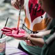 Kids Craft: Handprint Crab